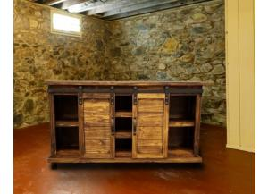 Image for Rustic style console with barn doors