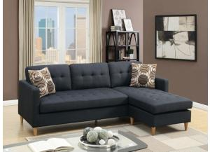 Image for 2PCS SECTIONAL BLK
