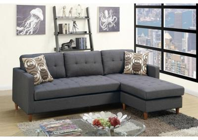 Image for 2PCS SECTIONAL BLUE GREY