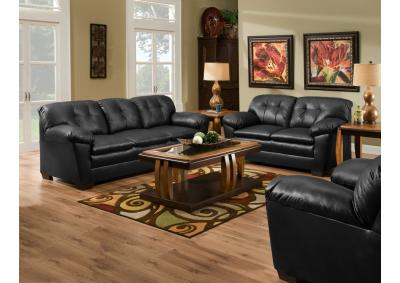 Image for COWGIRL BLACK SOFA & LOVE SEAT SET