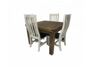 Image for French Quarters Square distressed looking 5PC Dining table (4 Chairs)
