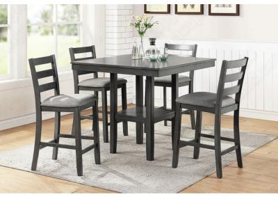Image for 5PCS HEIGHT DINING SET (TABLE+4 HEIGHT CHAIRS)