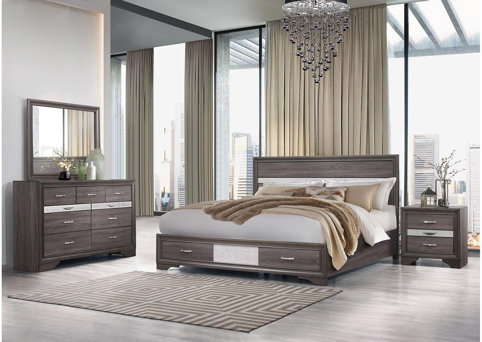 Seville Queen Bedroom Set W/ Dresser, Mirror, Chest and Nightstand,Instore Products