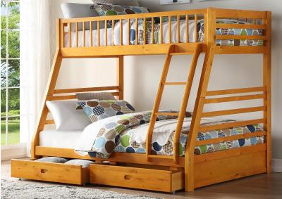 Image for Jason Honey Oak Twin/Full Bunk Bed