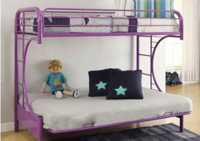 Image for Eclipse Purple Bunk Bed (Twin/Full/Futon)