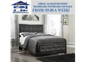 Image for Ashley Alamadyre Queen Headboard, Footboard and Rails. RTO List Price: $459.99