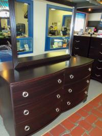 Image for Ashley Merlot Dresser and Mirror 001415 WAS: $539.99