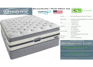 Image for Simmons Beauty Rest Recharge Bernardsville Pillowtop Hybrid Twin Mattress & Boxspring Set