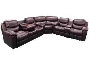Image for 3Pc Chestnut Sectional