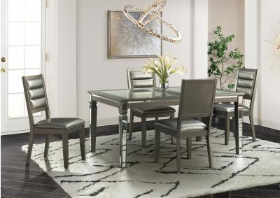 Image for Elements 14.5 5pc Dining Set (Table + 4 Chairs)