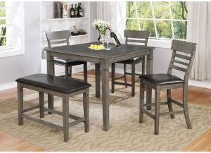 Image for Counter Dining Table w/3 Chairs and Bench