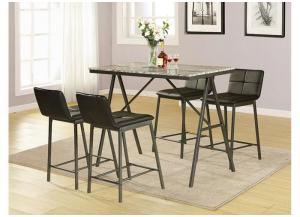 Image for 5pc counter set table and 4 chairs