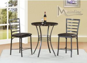 Image for Faux Marble Counter Height Table and 2 Stools