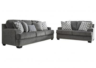 Locklin Carbon Sofa & Loveseat w/7 Pillows,InStore ONLY