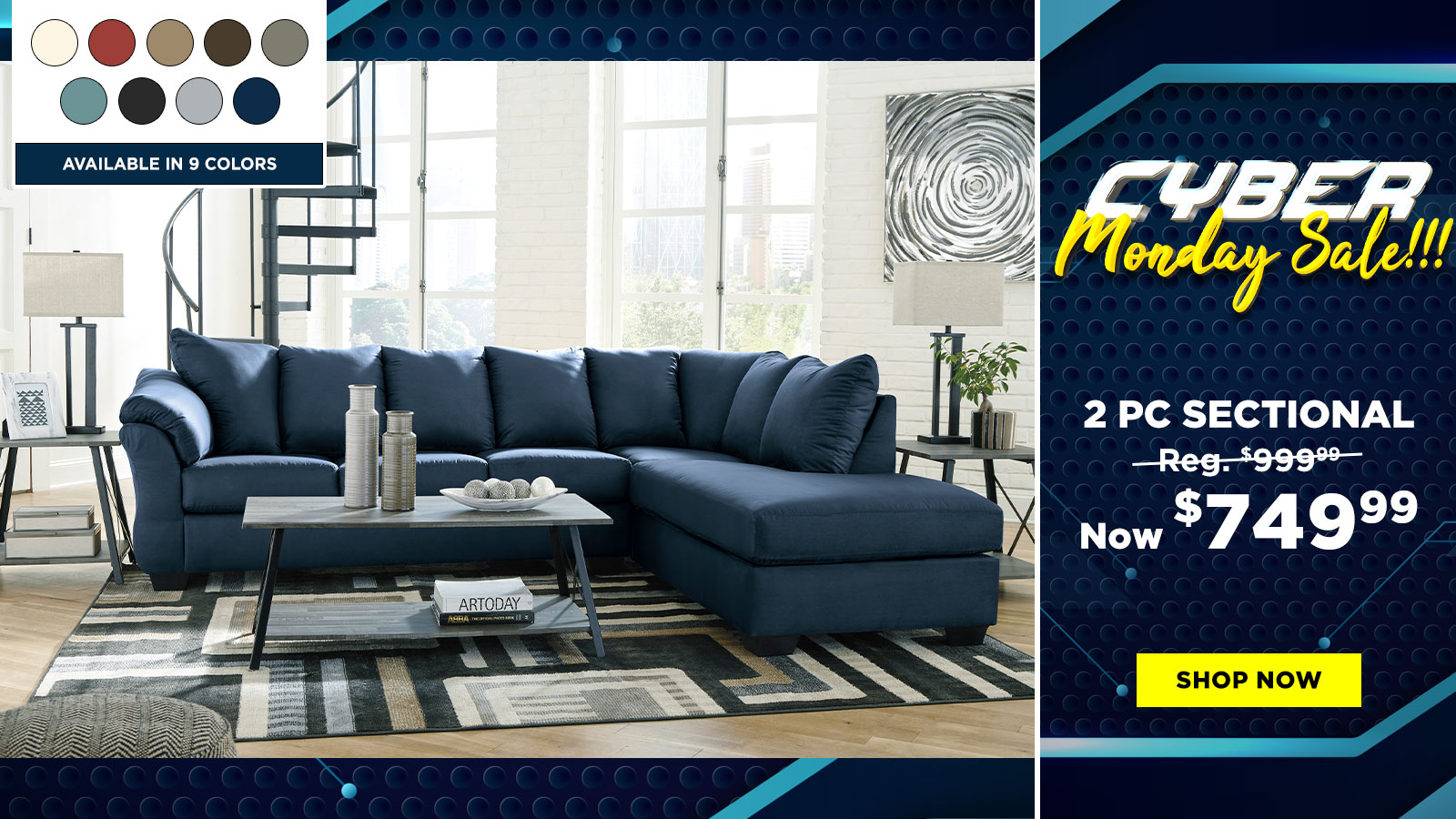 2 Pc Sectional $749.99
