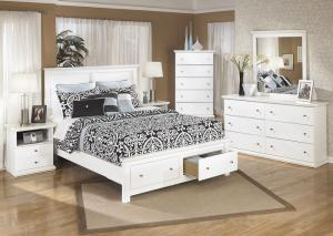 Image for Bostwick Shoals King Storage Platform Bed, Dresser & Mirror