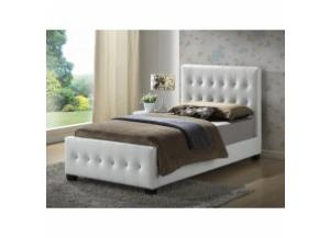 Image for White twin size upholstered bed