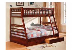 Image for Twin/Full BunkBed w/ understorage