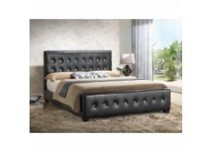 Image for Queen size black upholstered bed
