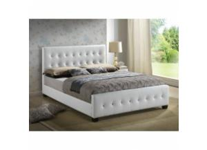 Image for White queen size upholstered bed