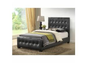 Image for Black Twin size uphosltered bed