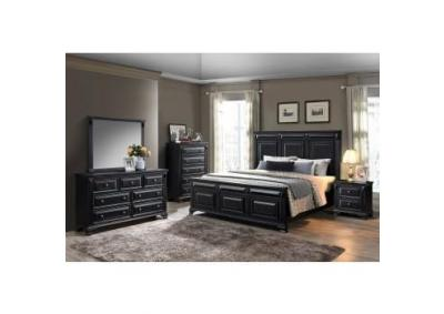 Image for Ravenwood 4 piece Queen bedroom set in black
