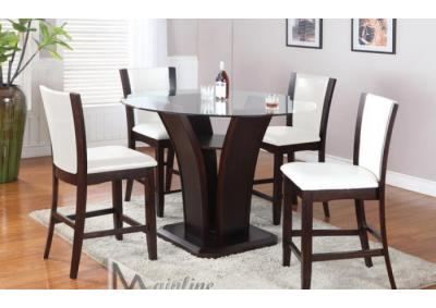 Image for Mainline Counter table and four chairs in white