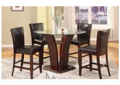 Image for Mainline Counter table and four chairs in Espresso