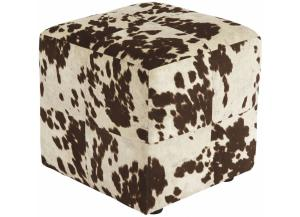 Image for Brown/White Bremer Accent Ottoman