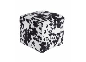 Image for Black/White Bremer Accent Ottoman