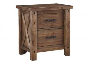 Image for Tamilo Gray/Brown Two Drawer Nightstand