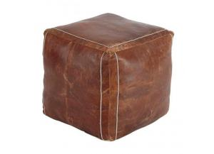 Image for Vintage Brown Pouf
