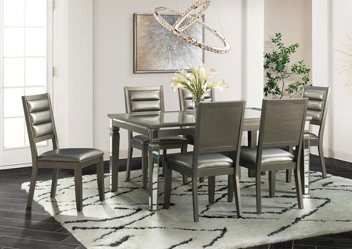 Fourteen and Half Dining Table and 6 Side Chairs,Harlem In-Store