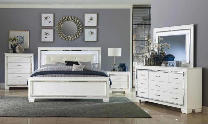 Queen Bed, Dresser, Mirror, Chest & Nightstand ,Harlem In-Store
