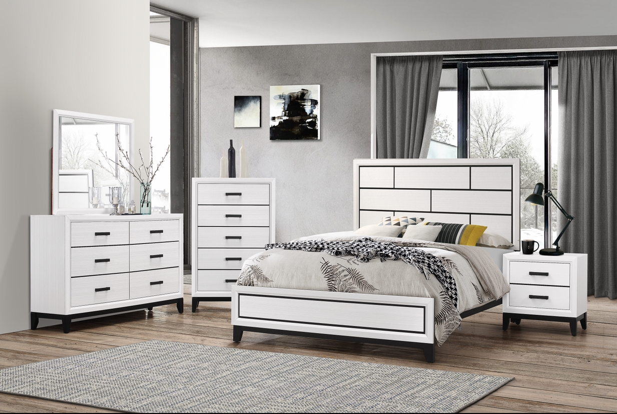 8170 Queen Bed, Dresser, Mirror, Chest And Night Stand,Harlem In-Store