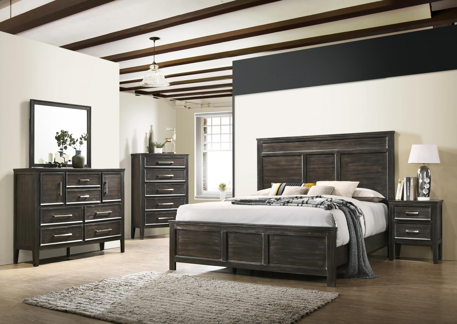 Andover Queen Bed Dresser Mirror Chest And Night Stand,Harlem In-Store