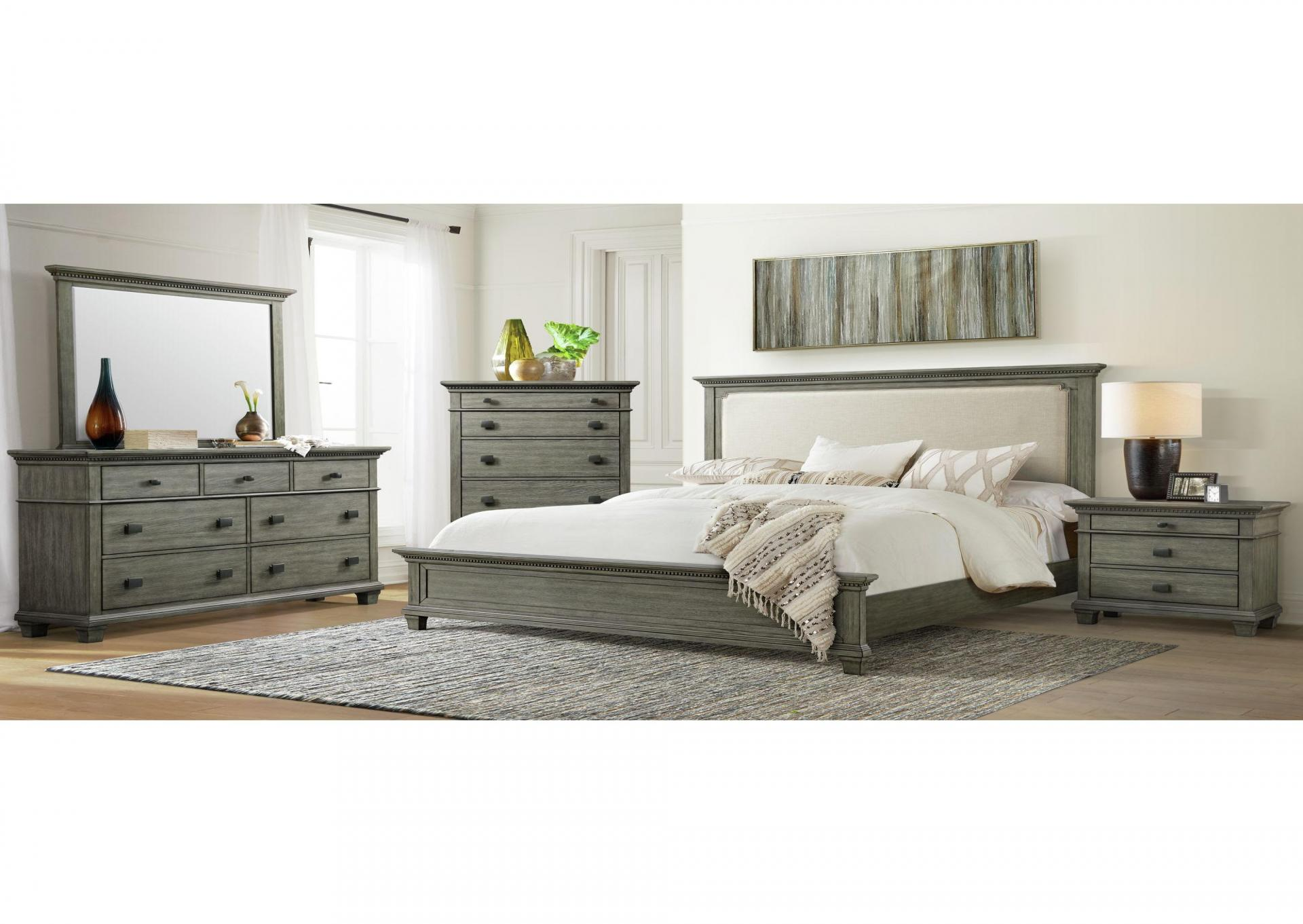 CW300 Queen Bed, Dresser, Mirror, Chest And Night Stand,Harlem In-Store
