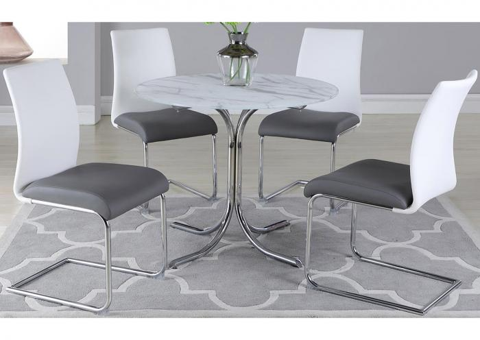 Dorothy w/Jane SC2 tone Dining Table w/4 Side Chairs,Harlem In-Store