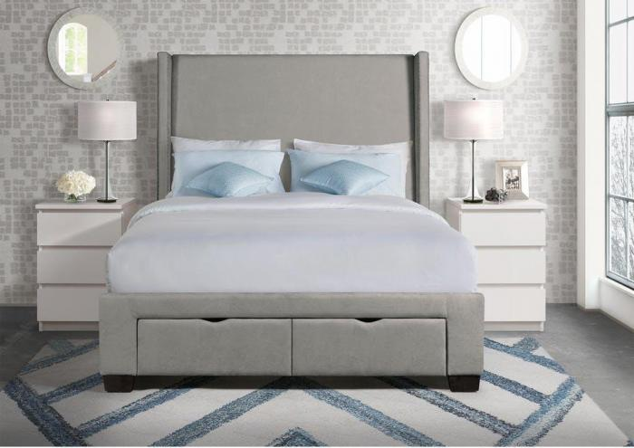 Queen Upholstered Storage Bed,Harlem In-Store