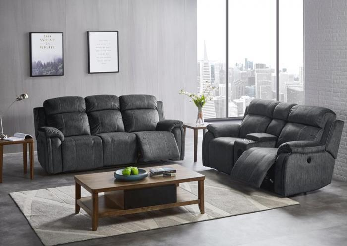 Tango Reclining Sofa and Reclining Console Loveseat w/Bluetooth Speaker,Harlem In-Store