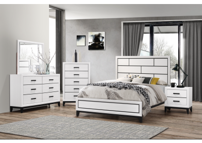 8170 Queen Bed, Dresser, Mirror, Chest And Night Stand
