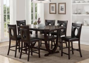 Image for Counter height dining table and 6 stools