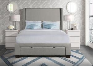 Queen Upholstered Storage Bed