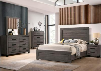 Image for Lifestyle Dark Queen Bed, Dresser, Mirror, Chest, and Night Stand