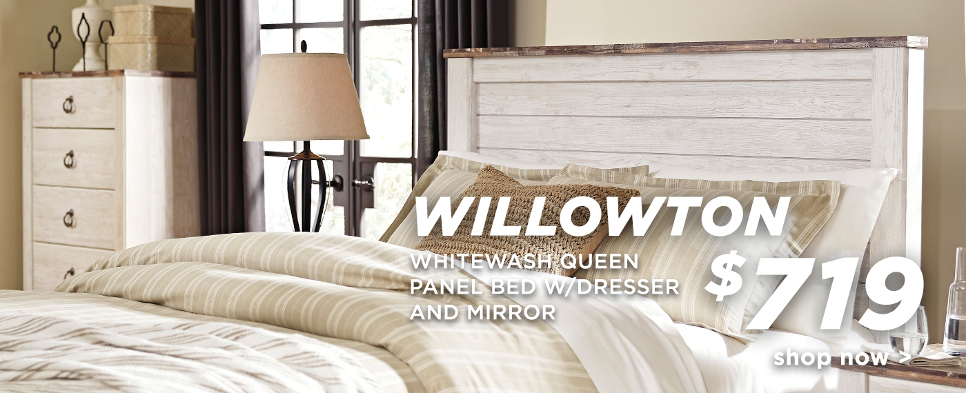 Willowton Whitewash Bedroom Set