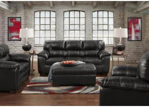 "Image for Black ""Leather Look"" Sofa"