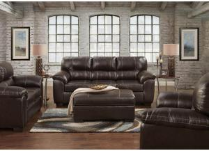 "Image for Brown ""Leather Look"" Sofa"