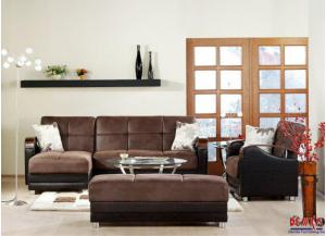 Image for Luna Silverado Chocolate Sectional Sleeper