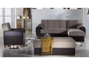 Image for Estivo Lilyum Gray Sectional Sleeper