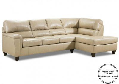 Image for Stefano Ivory 2Pc Sectional Raf Sofa